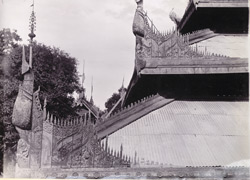 Carving in eaves and hips, Theatre Hall, [Mandalay Palace]